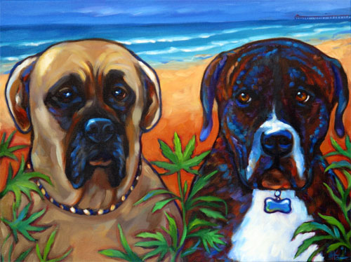 Lola and Bodhi pet portrait
