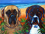 portrait of Lola and Bodhi, from Oceanside, Ca