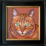 Pet portrait of Johnny, framed