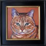 pet portrait of Noah, framed